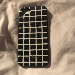 Kate Spade IPhone 6 black and white case